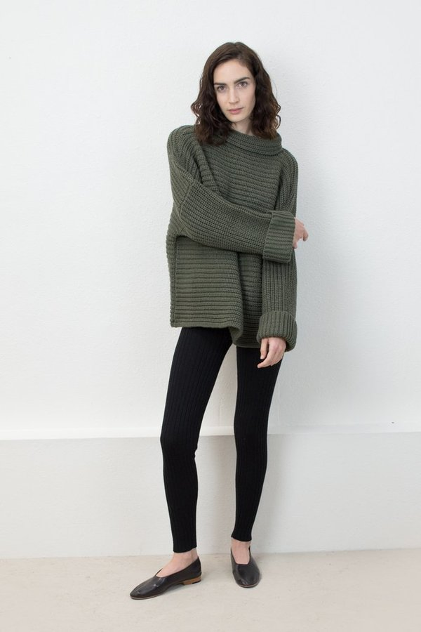 Micaela Greg Parallel Pullover -Olive