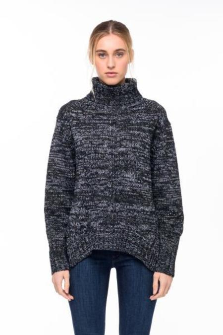 John + Jenn RANDOLPH Loose turtleneck Sweater - Dark gray/heather gray