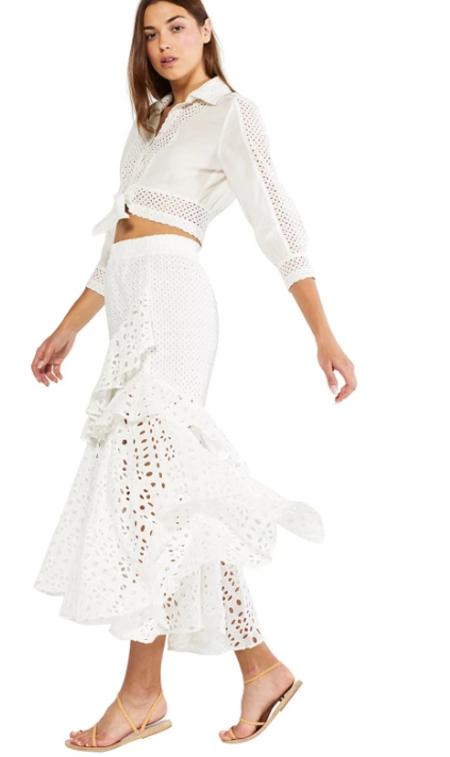 Misa Los Angeles Joseva Skirt - Ivory
