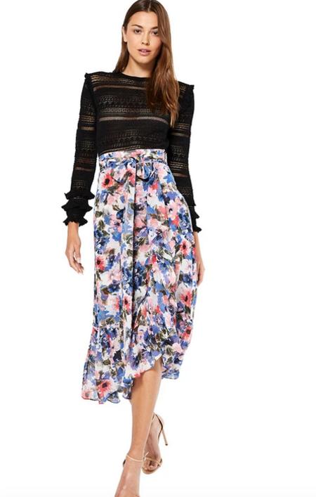 Misa Los Angeles Themis Skirt - Tie Dye Floral