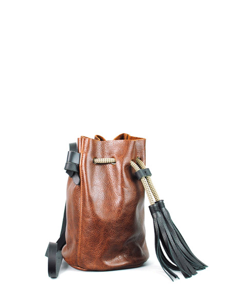 Eleven Thirty Christie Mini Bucket Bag Cognac