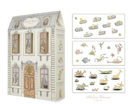 Atelier Choux Gift Set Baby Swaddle Blanket- LIBERTÉ
