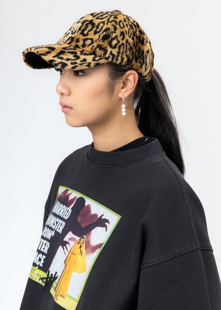 we11done Pearl Logo Cap - Leopard