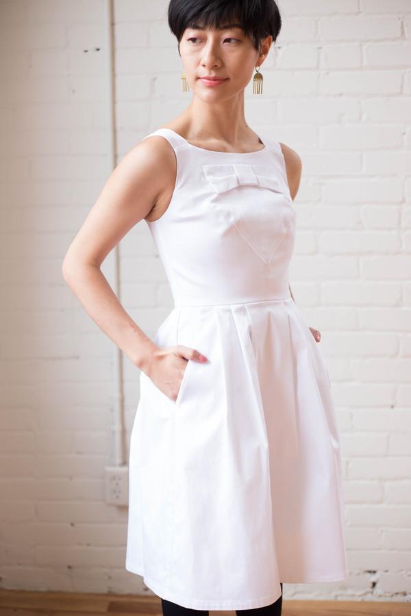 Birds of North America Glide Dress - White