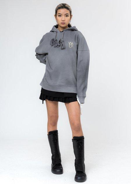 we11done Pearl Logo Hoodie - Grey