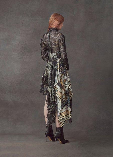 Leo and Lin Starry Night Asymmetrical Silk Linen Dress
