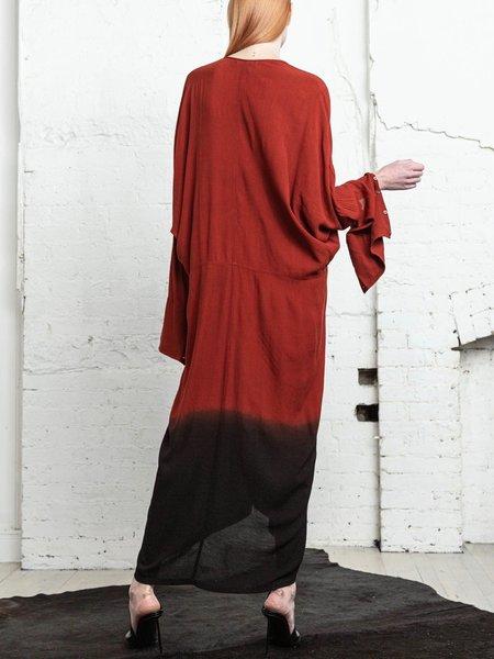 Nicholas K Tristan Drape Dress - Crimson/Black
