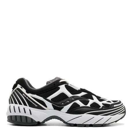 Saucony x White Mountaineering Grid Web Sneakers - Black/White