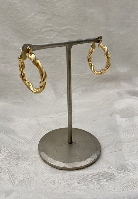 SS JEWELRY Rope Hoop - Gold