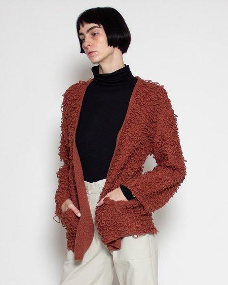 Shale Mare Abelle Loop Fringe Sweater - Terracota