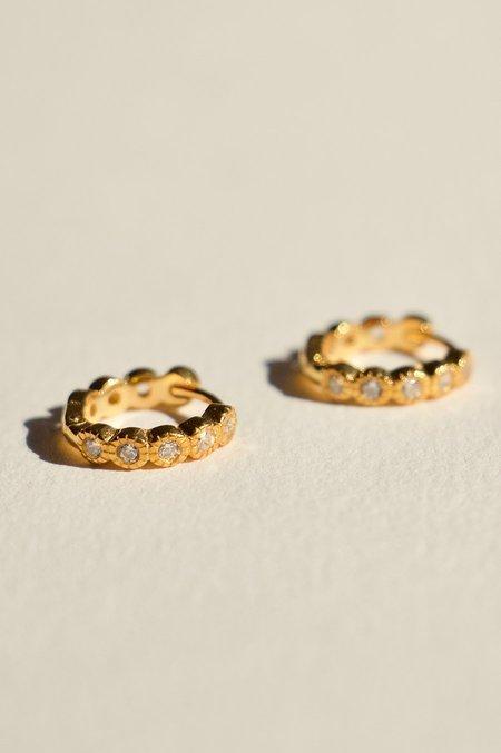 BRIE LEON CZ Redondo Pillar Earrings -  Clear