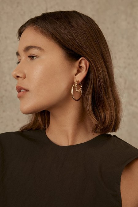 BRIE LEON Organica Hoop Earrings Large