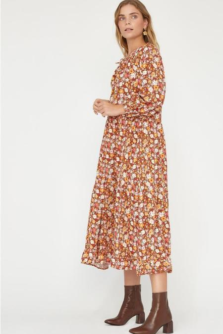 Lacausa Floral Berkeley Dress - Clay Floral