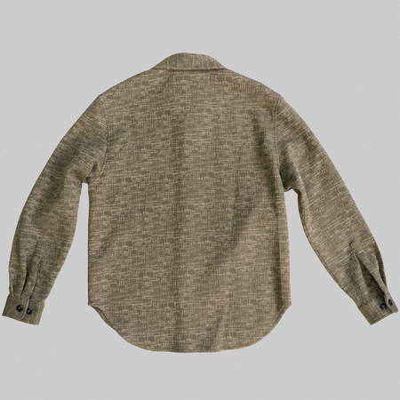 Reborn Garments Tweed Overshirt - Olive