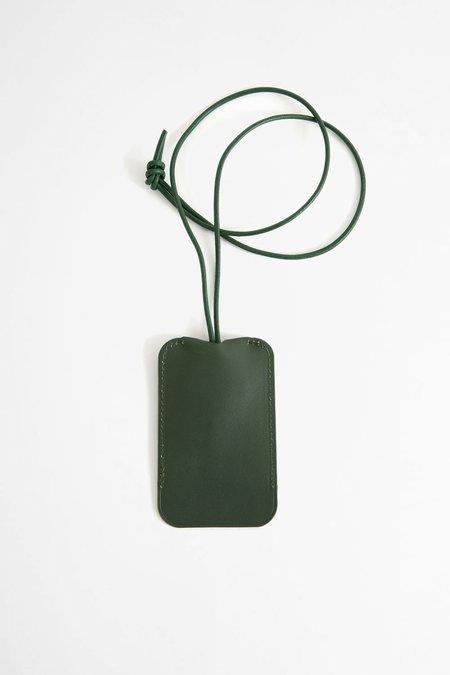 Del Barrio Leather key holder - green
