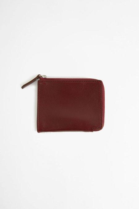 Del Barrio Zip around leather wallet - burgundy