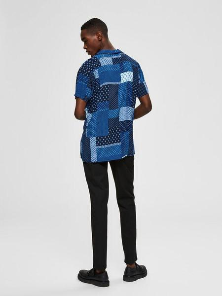 Selected Fuse Patch Print SS Shirt - Navy