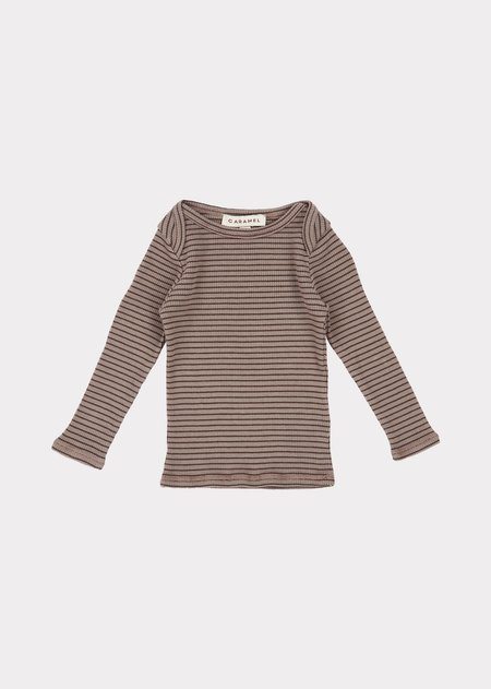 Kids Caramel Flycatcher Baby T Shirt - Storm/Chocolate