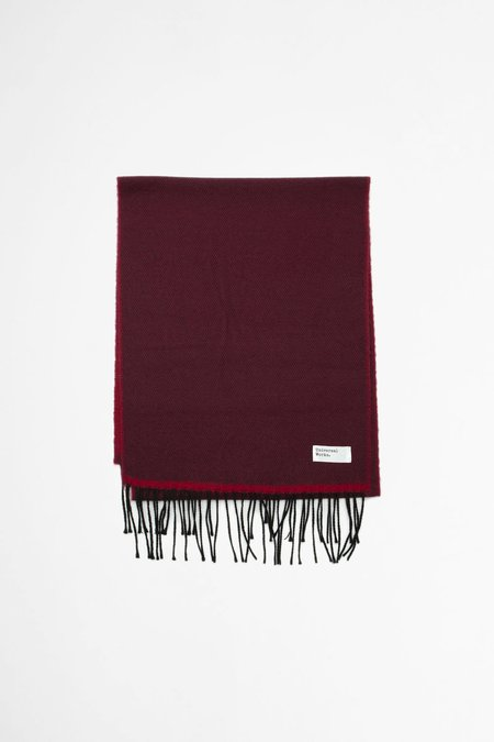 Universal Works Double Sided Scarf - Burgundy/Red