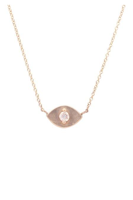 Valley Rose Eva Eye Necklace - White Sapphire