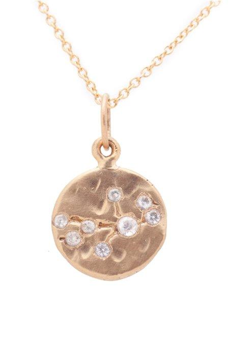 Valley Rose Virgo Constellation Necklace - White Sapphire