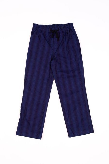 Needles String Arrow Cotton Easy Pant - Leno Indigo
