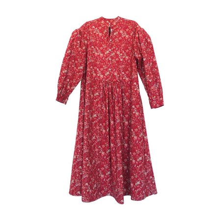nico nico Lucie Puff Sleeve Dress - Red