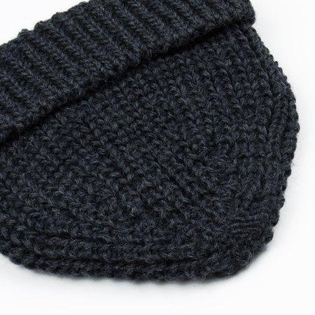 cableami British Wool Short Beanie - Gray