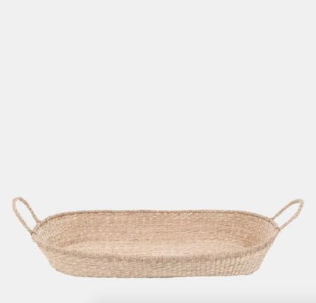 Kids Olli Ella Nyla Seagrass Changing Basket with Cotton Insert