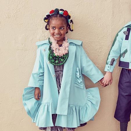 KIDS Tia Cibani Kids Child Ankara Opera Coat - Acacia Green