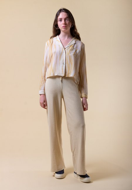 DAMSON MADDER Ankle Rib Trouser - cream