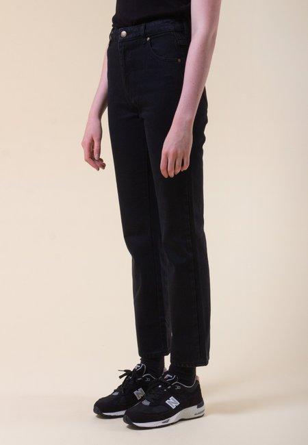 Rollas Original Straight Jeans - Ash Black