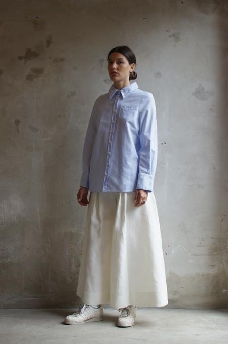 UNIFORME Kahn Smock Shirt (Azure Blue)