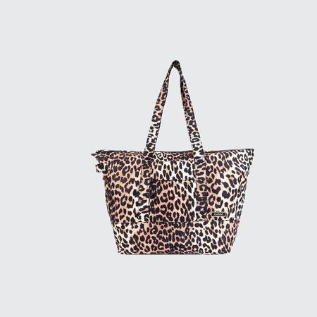 Ganni Packable Tote - Leopard