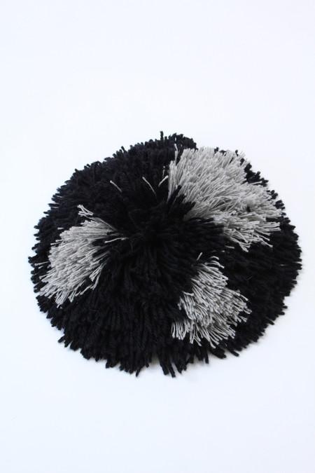 Artist Alpaca Handmade Fringe Pillow Black & Grey