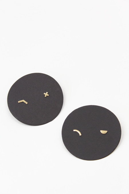 Annie Costello Brown Solid Gold Mix N Match Single Studs