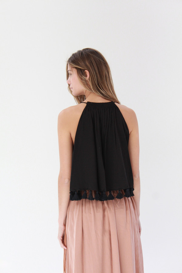 Apiece Apart Galisteo Wabi Sleeveless Top Black