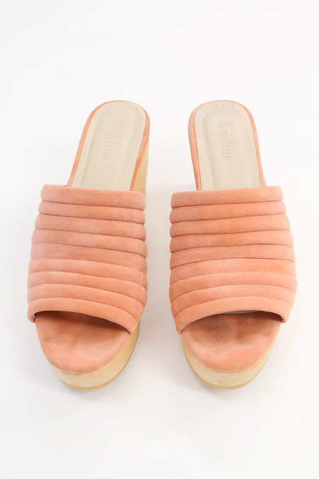 Beklina Suede Ribbed Clog Shrimp