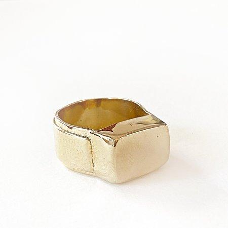 Melissa De La Fuente Signet Ring - Gold