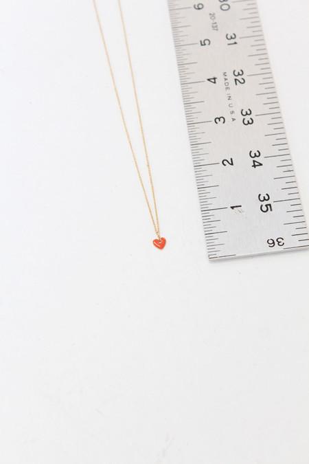 Artist French Enameled Heart Pendant - GOLD