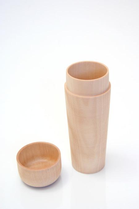 Artist Japanese Wood Tea Canister