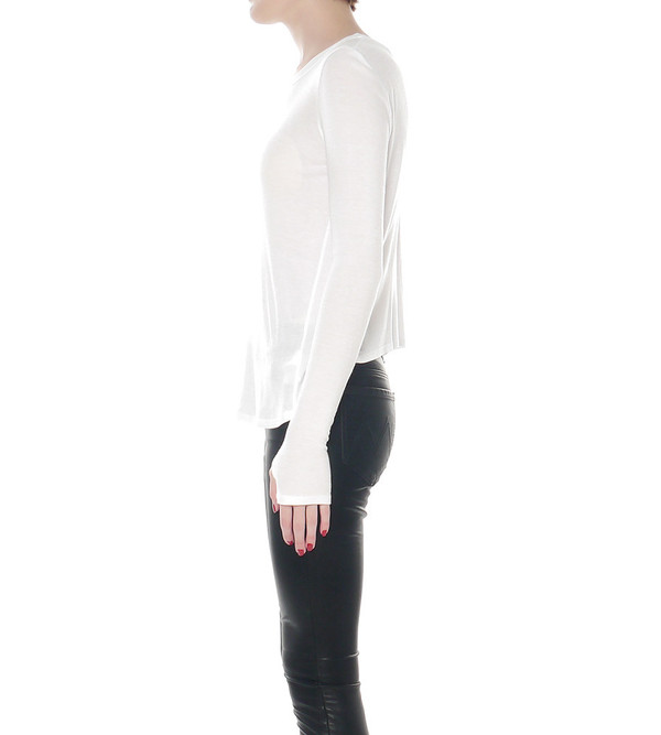 Theyskens Theory Chrystal Frispy Long Sleeved Shirt