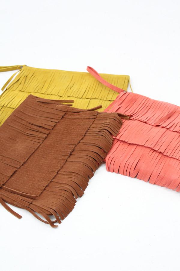 Huma Blanco Laura Leather Fringe Clutch