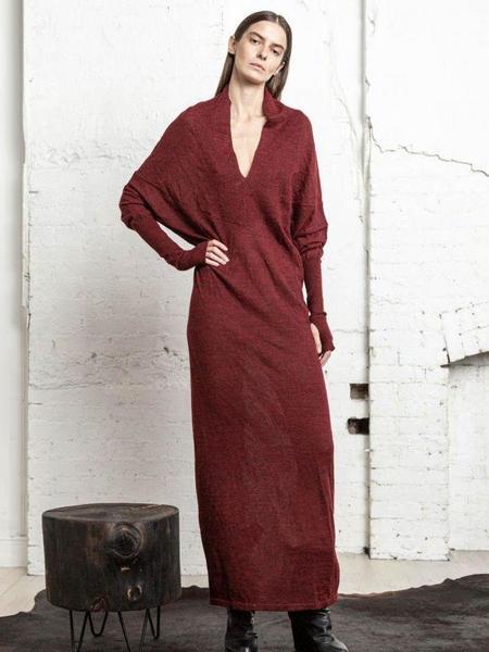 Nicholas K Reversible Sweater Dress - Crimson