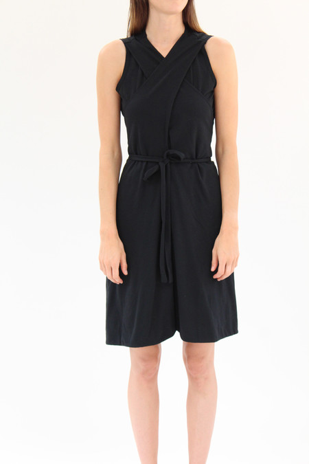 Beklina Lina Rennell Criss Cross Jersey Wrap Dress - BLACK