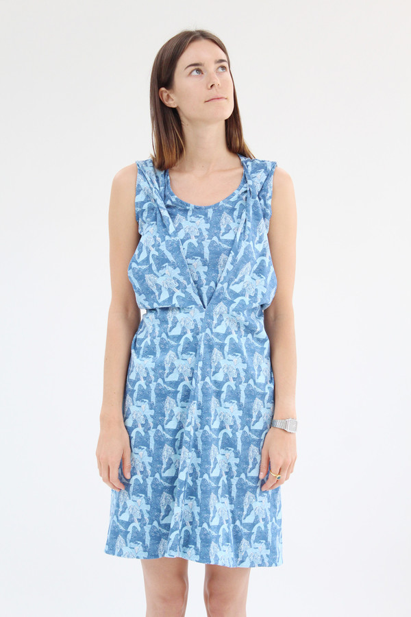Beklina Criss Cross Jersey Wrap Dress Print