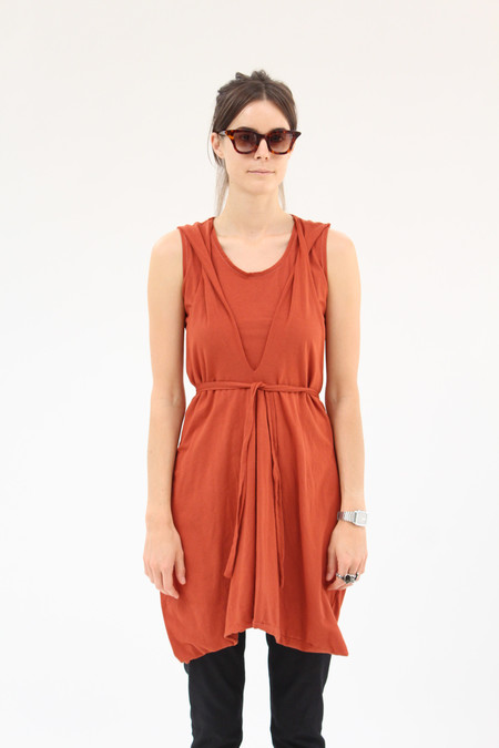 Beklina Criss Cross Jersey Wrap Dress Terra Cotta