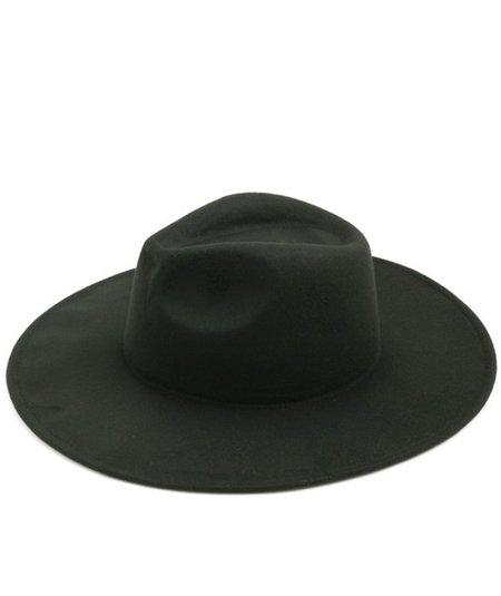 Persons Vegan Felt Travelers Hat in Pine - Black