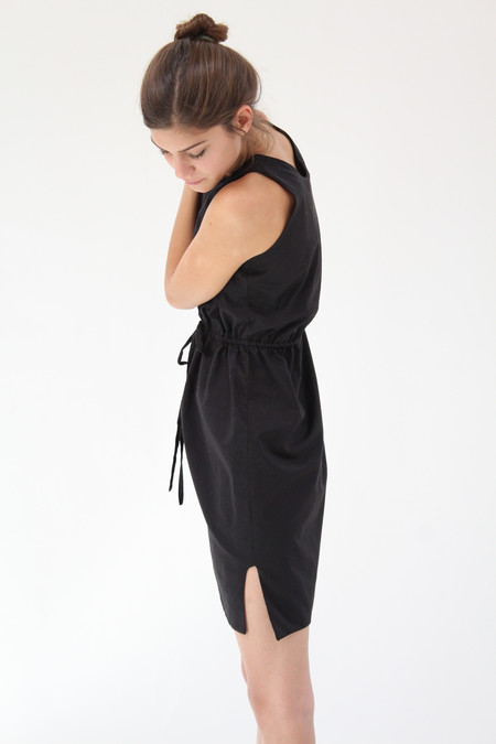 Beklina Hoda Tie Dress Black