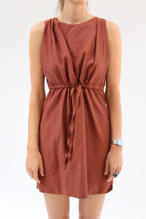 Beklina Hoda Tie Dress Rust